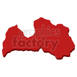clipart - red Lettonia shape clip art.