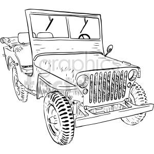 clipart - jeep vector clipart.
