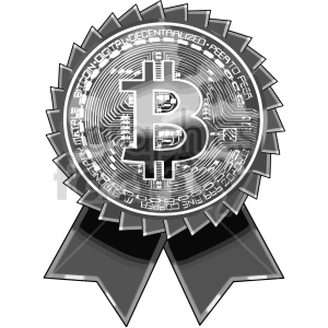 black and white bitcoin award vector clipart clipart. Commercial use image # 416702