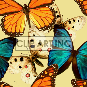 Butterfly tiled background clipart. Commercial use image # 128126