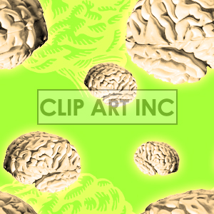 Tiled brain background clipart. Royalty-free image # 128136