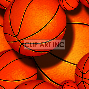 Basketball tiled background clipart. Royalty-free image # 128156