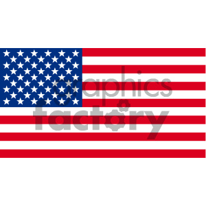 USA Flag clipart. Commercial use image # 142455