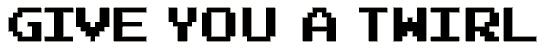 joystix font. Royalty-free font # 174828