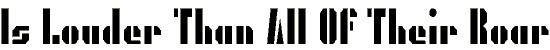 presgrg font. Royalty-free font # 174878
