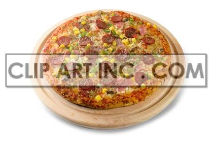 Supreme Pizza clipart. Commercial use image # 176934