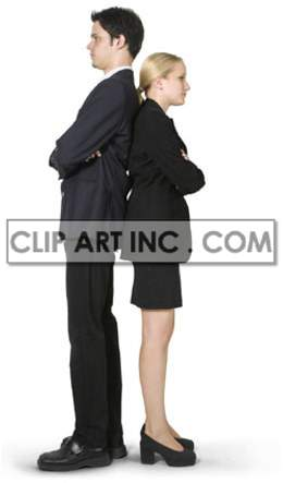 businessman ambition career professional corporate suit male man businessperson meeting secretary woman female back to back confrontation business office   3b0038lowres photos people