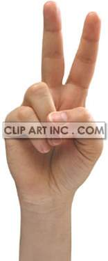 hand sign victory peace and love gesture number two finger   3I0003lowres Photos People