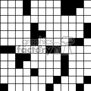 Crosword puzzle tiled background clipart. Royalty-free image # 371166