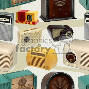 vintage radio bacground clipart. Commercial use image # 371306