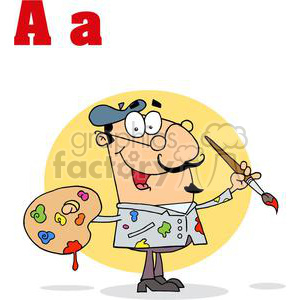 A is for Artist clipart. Commercial use image # 377964