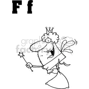 F as in Fairy  clipart. Commercial use image # 378014