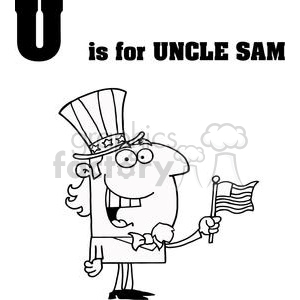 U as in Uncle Sam  clipart. Commercial use image # 378019