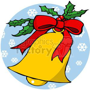 A Golden Christmas Bell clipart. Commercial use image # 378039