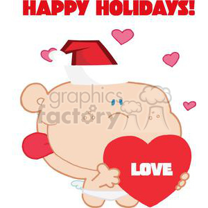 Romantic Cupid with Heart-copy clipart. Commercial use image # 378119