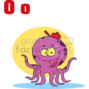 O is for Octopus clipart. Commercial use image # 378134