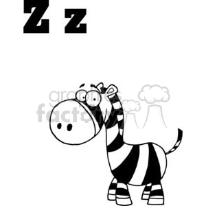 Alphabet Letter Z as in Zebra clipart. Royalty-free image # 378169