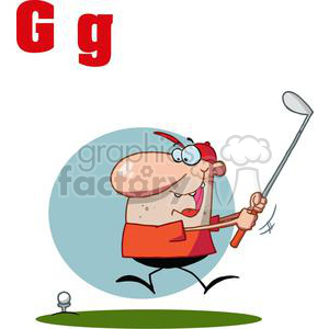 Alphabet Letter G as in Golf clipart. Royalty-free image # 378184