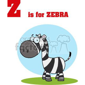 Alphabet Letter Z with picture of Zebra clipart. Commercial use image # 378239