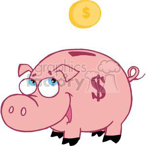 Piggy Bank clipart. Royalty-free image # 378274