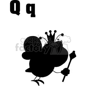 Silhouette of A Queen Bee in Black clipart. Commercial use image # 378379