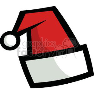 Santa Hat on a White Background clipart. Royalty-free image # 378389