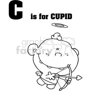 A Cupid with a Halo  clipart. Royalty-free image # 378424