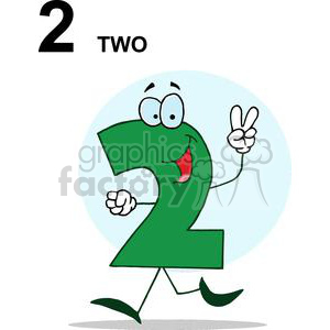Number 2 in Green clipart. Royalty-free image # 378429