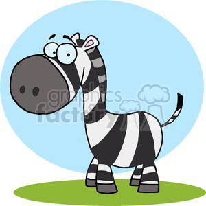 Zebra Standing in a Field clipart. Royalty-free image # 378439