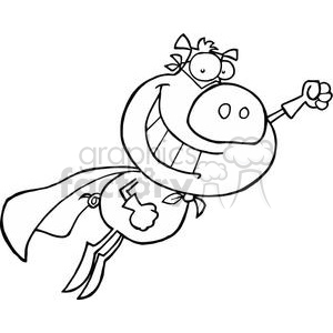 It 's Super Pig To Save The Day clipart. Royalty-free image # 378494
