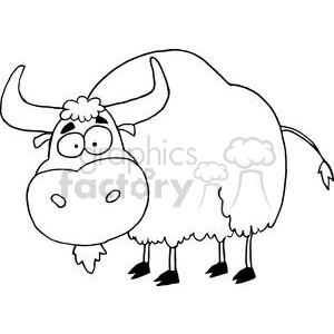 Yak isolated on a white background clipart. Commercial use image # 378524