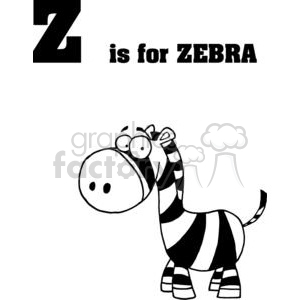 Zebra isolated on a white background clipart. Royalty-free image # 378534