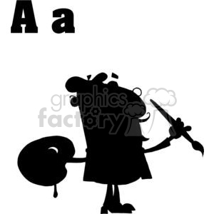 Artist silhouette clipart. Commercial use image # 378539