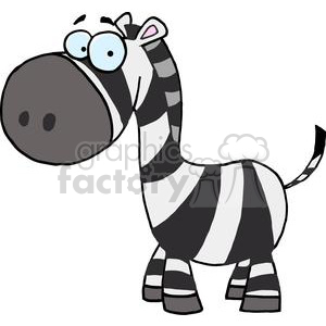 A Blue Eyed Zebra on a white background clipart. Commercial use image # 378569