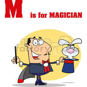 Magician doing a Magic Trick  clipart. Royalty-free image # 378579