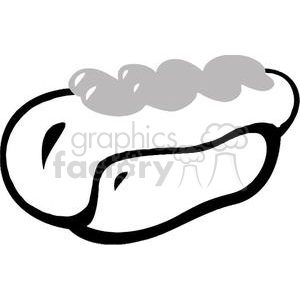 Hot Dog in white and black clipart. Commercial use image # 379011