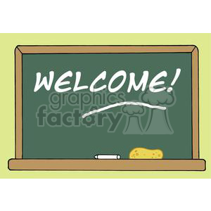 School Chalk Board With Text Welcome!