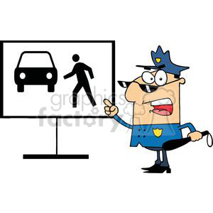 vector cartoon funny law officer cop