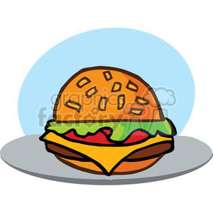 vector cartoon funny food fast burgers lunch