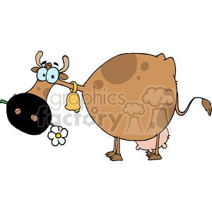 Cartoon Character Cow Different Color Brown clipart. Royalty-free image # 379346