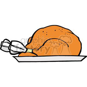 Turkey on a Plate clipart. Royalty-free image # 379436