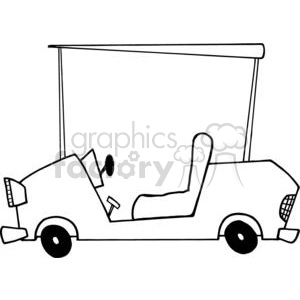 Cartoon Character Golf Car clipart. Royalty-free image # 379456