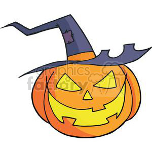 Halloween pumpkin jack-o-lantern witch cartoon