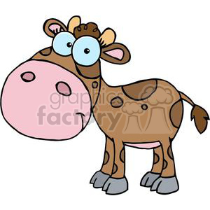Cute Little Cow clipart. Commercial use image # 379536