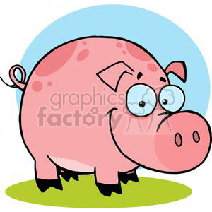 Cartoon Character Happy Pig clipart. Royalty-free image # 379571