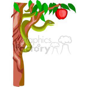 snake from Adam and Eve clipart. Royalty-free image # 164166