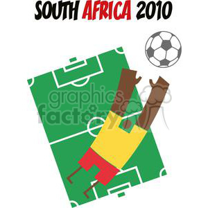 South Africa 2010 Soccer Player clipart. Royalty-free image # 379630
