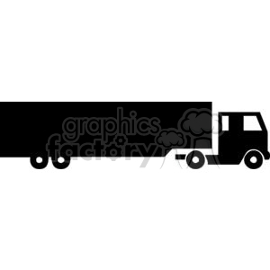 Semi Truck Silhouette clipart. Commercial use image # 379655