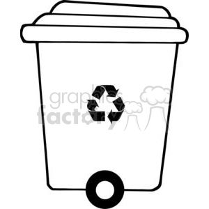Recycle trash can clipart. Commercial use image # 379660