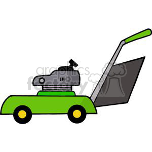 green Mower clipart. Commercial use image # 379665